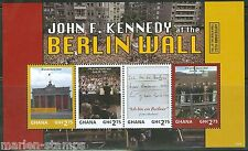 GHANA  2014  PRESIDENT JOHN F. KENNEDY AT THE BERL;IN WALL  SHEET  MINT NH