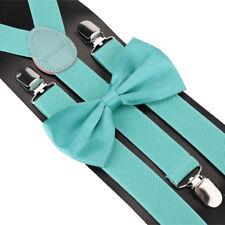 Suspender and Bow Tie Set for Adults Men Women Teens Kids Children (USA Seller)