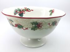 Spode Christmas Tree Footed Compote Serving Bowl