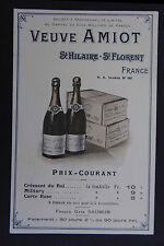 carte publicitaire VEUVE AMIOT Saint-Hilaire Saint-Florent Grand vin de Loire