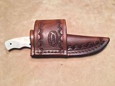 Custom Leather Crossdraw Sheath for Coyote Skinner S59