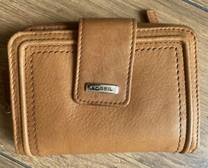 Immaculate Fossil Rich Brown Leather Multi Compartment Organiser Wallet Purse