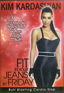 KIM KARDASHIAN: FIT IN YOUR JEANS BY FRIDAY (DVD, Region All) Disc Like New