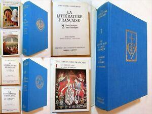 Lagarde & Michard: LA LITTERATURE FRANCAISE. T1, 2 et 4. 1970/71 Bordas-Laffont.