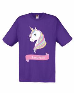 Personalised Unicorn girls T-shirt Fairy Enchanted