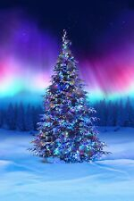 Hoffman Borealis Christmas Tree Fabric Panel Material