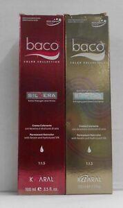 KAARAL BACO Hydrolyzed SilkTera Protein 1:1.5 Permanent Hair Color ~ 3.5 fl. oz!