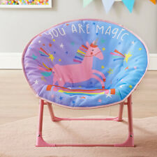 Childrens Kids Bedroom Foldable Unicorn Moon Chair Seat 50 x 50 x 47cm