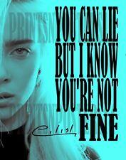 Billie Eilish singer 11x14 SIGNED REPRINT Photo/poster Dark POP #3