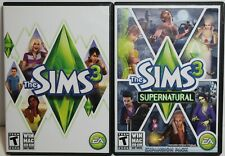 The Sims 3 and The Sims 3 Supernatural Expansion Pack - PC Games - Complete