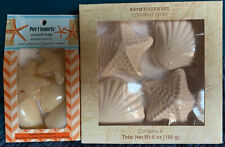 Lot of two New Pier 1 Imports Seashell, Star soap & Fizzer Sets.