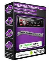 JEEP GRAND CHEROKEE RADIO DAB,Pioneer unità principale DAB USB AUX LETTORE +