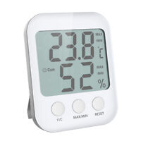 LCD Display Thermometer Uhr Temperatur Luftfeuchtigkeit Raumklimaanzeige