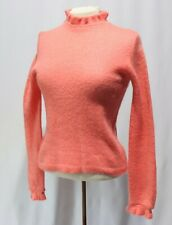Vintage mohair Sweater Shirt Top Pearl Buttons