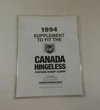 Canadian Wholesale Supply Canada Hingeless 1994 Supplement Stamp Album Pages