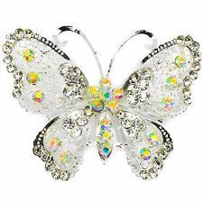 Nuevo Aleación Rhinestone Mariposa Diamante Gran Vintage Broche Broche Pin Boda