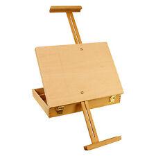 Medium Adjustable Wood Table Sketchbox Storage Painting Easel