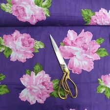 """100% Cotton Indian Printed PURPLE Floral Soft Summer Dress Craft Fabric 44"""""""