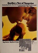 RAY CHARLES 1970 original POSTER ADVERT MY KIND OF JAZZ slice of tangerine