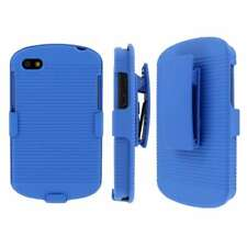 MPERO Collection 3 in 1 Tough Blue Kickstand Case for BlackBerry Q10