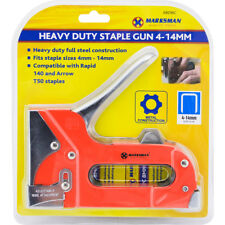 HEAVY DUTY COMPACT STAPLE GUN TACKER UPHOLSTERY DIY NEW INCLUDES 4-14MM STAPLES
