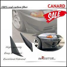 CARBON FIBER 2PCS ARS STYLE CANARD (FOR STOCK BUMPER) FOR NISSAN R32 GTR
