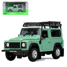 Welly 1:24 Land Rover Defender Metal Diecast Model Car Travel Edition Green