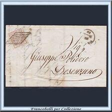 ASI 1857 Parma c 25 bruno lilla n. 10 Lettera per Desenzano Antichi Stati Italia