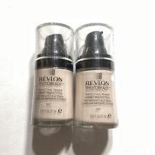 Lot of 2 Revlon PhotoReady Makeup Perfecting Primer 001 0.91 fl oz
