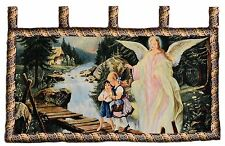 Tache 43 x 23 Religious Guardian Angel Wall Hanging Tapestry Art Fabric Decor