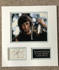 SYLVESTER STALLONE - Vintage Autographed Signed Display RAMBO First Blood Rare