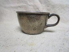Vtg 1930's Hand Hammered Sterling Silver WC Webster Sterling Silver Mustache Cup