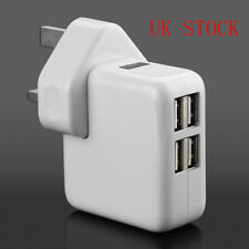 4 Port USB Travel Charger Mains Wall AC Multi Adapter UK Plug For Phone Samsung