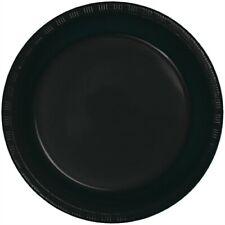 "Black 9"" Plastic Plates 20 Per Pack Black Party Decorations & Party Supplies"