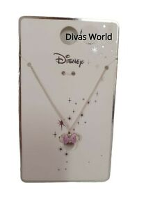 Disney Minnie Mouse Necklace Pendant Silver Chain Locket Bow Jewellery PRIMARK