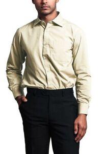Men's Regular Fit Long Sleeve French Convertible Cuff Dress Shirt - RET- PART 3