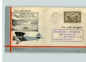 CANADA AIRMAIL, Toronto, Canada to Buffalo, NY, 1929 cancel, to MONCTON