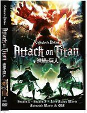 DVD Anime Attack on TITAN Season 1-2 English Dub 2 Movie 5 OAD 9 Extra Eng Sub