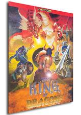 Poster Retrogame - Capcom The King of Dragons - Vintage Cover