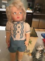 Adorable Cloth Felt Lenci Doll -All Original Excellent-1980's VINTAGE LENCI 19""