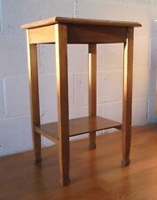 ANTIQUE DECO OAK SIDE HALL LAMP TABLE WITH SHELF