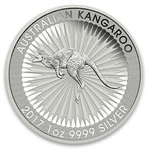 1 Unze Silbermünze 1 AUD Dollar Australien Kangaroo, Känguru 2017  999,9 Silber