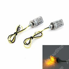 LED Chrome Micro Mini Tiny Small Indicators Turn Signals Motorcycle MotorBike BS