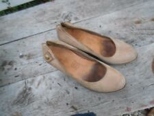 RARE CHAUSSURES COMPENSEES CLARKS T 38 CUIR BEIGE HIPPIE VINTAGE COLLECTOR 15€ A