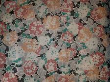 "Cotton Blend Multi color Floral flowers light weight 2 yds + 22"" x 44"""