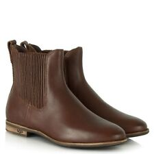 UGG® AUSTRALIA JOEY BROWN LEATHER CHELSEA ANKLE BOOTS UK 8.5 EUR 41 RRP £155