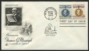 #1147 & 1148 T.G. Masaryk, Art Craft [8] Addressed FDC ANY 4=