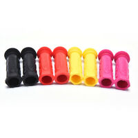 PAIR YELLOW COVER LEVER GRIP BIKE FIXIE VINTAGE BRAKE RUBBER RETRO CLASSIC HOODS