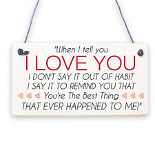 Love You Gift For Boyfriend Husband Wallet Insert Anniversary Christmas Gift