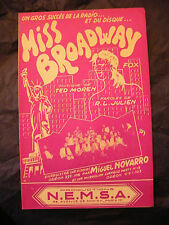 Partition Miss Broadway Ted Moren Miguel Novarro Music Sheet